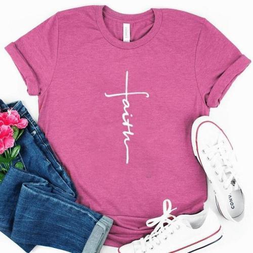 Short sleeves faith daily graphic tees