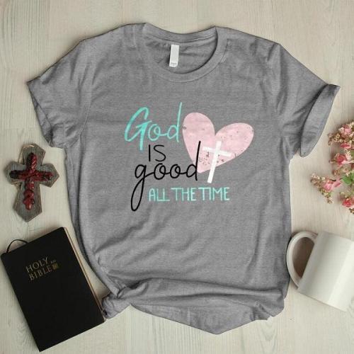 God is good letter print designer graphic tees