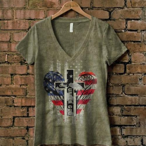 One nation under god American graphic tees