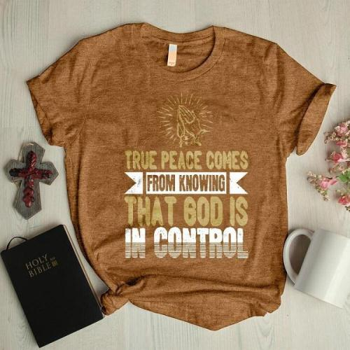 Knowing that god is in control faith graphic tees