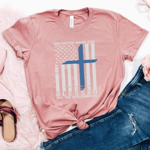 BLESSED ARE THE PEACEMAKERS designer graphic tees