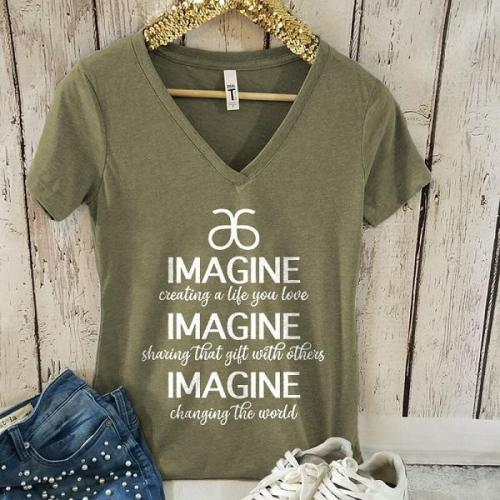 Imagine creating a life you love graphic tees