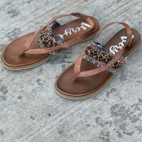 Womens Leopard Print Casual Flip-flop Sandals