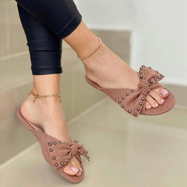 Women's Fashionable Bow Tie Flat Slippers