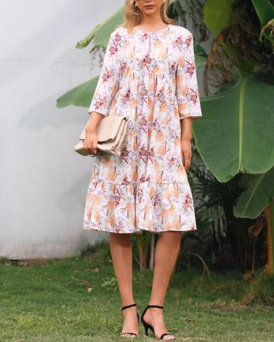 Casual Loose Printed Dress