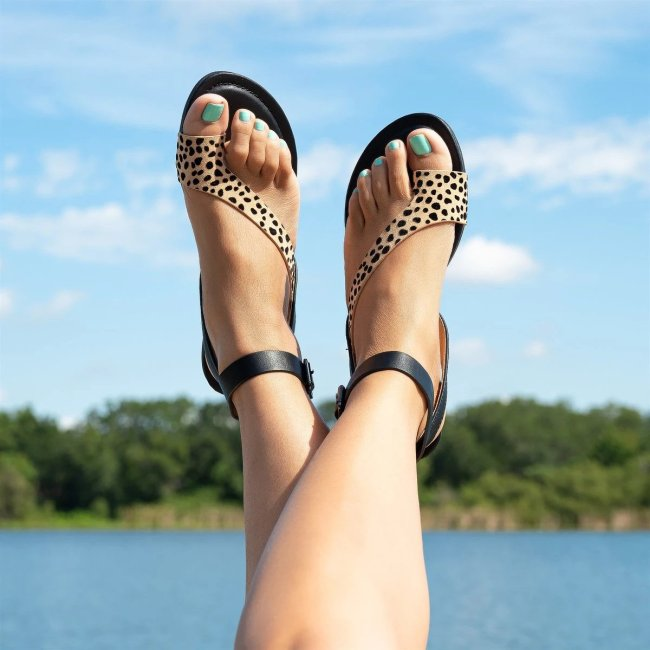 New Style Leopard Flat Sandals