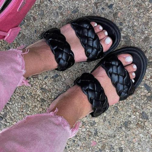 Women's Braided Footbed Sandals