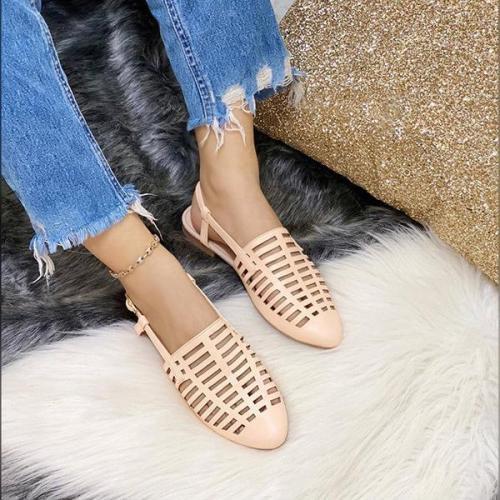 Women's Casual Hollow Flower Flat Sandals