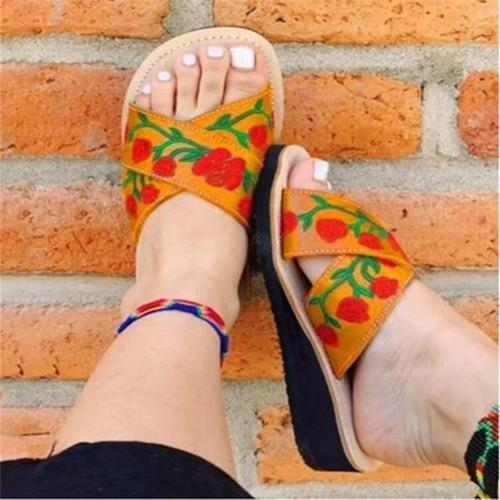 Women's Embroidery Flats Slippers