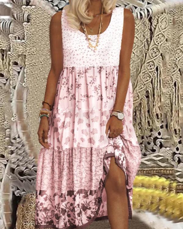 Women's Casual Floral Print Dress