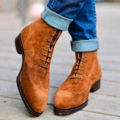 Suede Casual Solid Color Boots