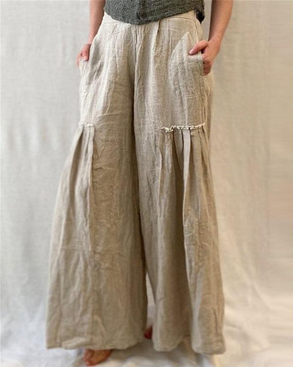 Women's Casual Linen Loose Pants