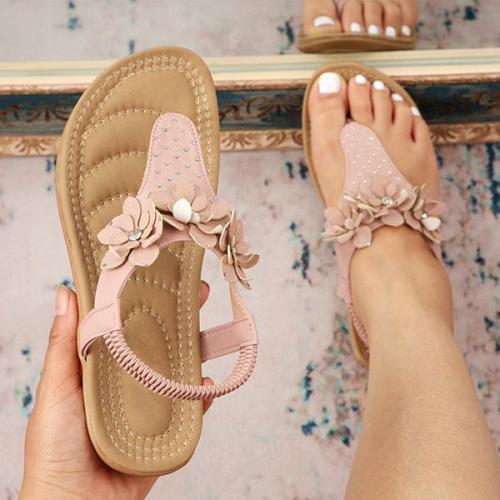 Women's Fashion Three-Dimensional Flower Flip-Flop Sandals