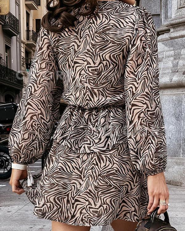 Fashion Striped Elegant V-neck Dress
