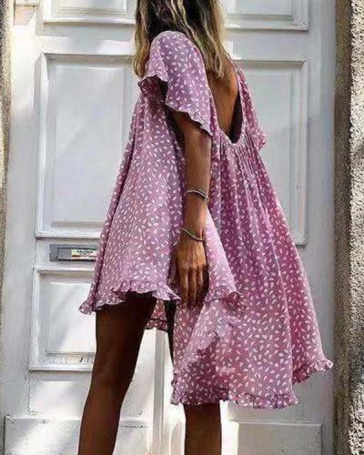 Women's Summer Loose Print Dress