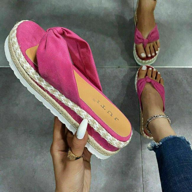Women's Wedge Heel Platform Slingback Mules Sandals