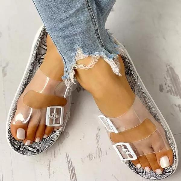 Women Casual Daily Double Buckle Strap Slippers