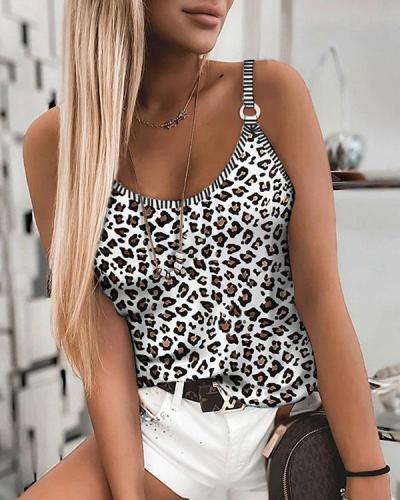 7 Color Plus Size Leopard Stretchy Sexy Vest
