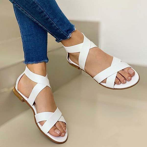 Women's Casual Cross Flat Sandals