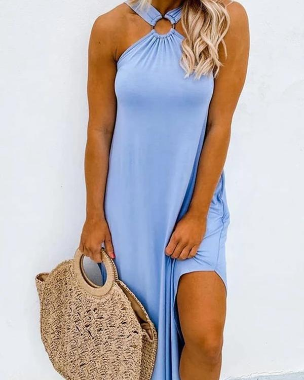 Feel That Sunshine Cutest Cross Detail Dress