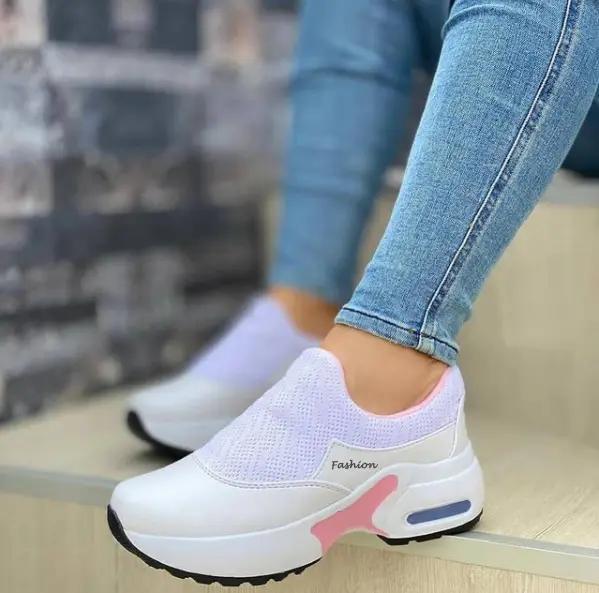 Women's Fashion Air Cushion Flying Woven Sneakers