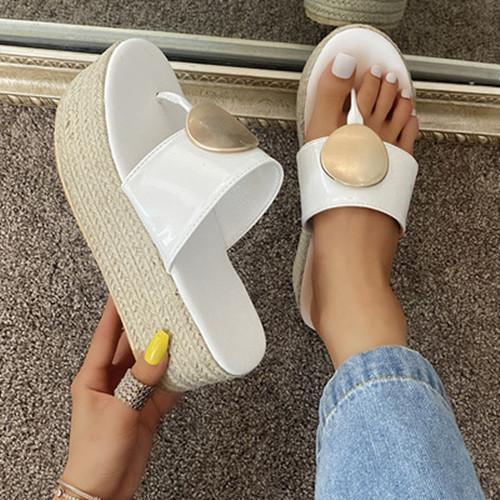 Wedge Flip Flop Sandals