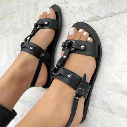 Women's Vintage Metal Hollow Sandals