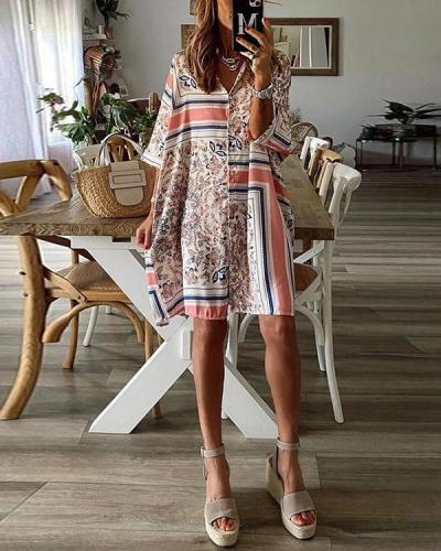 Moments Like These Splicing Floral Dress