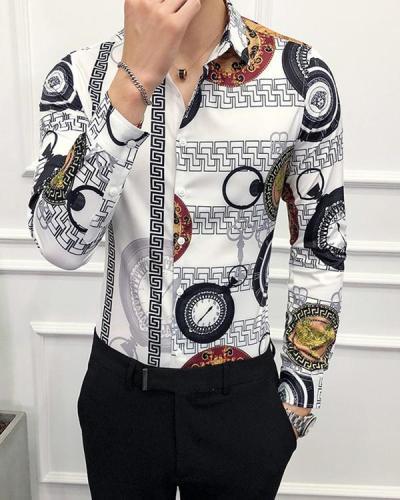 Men's Printed Long Sleeve Shirt