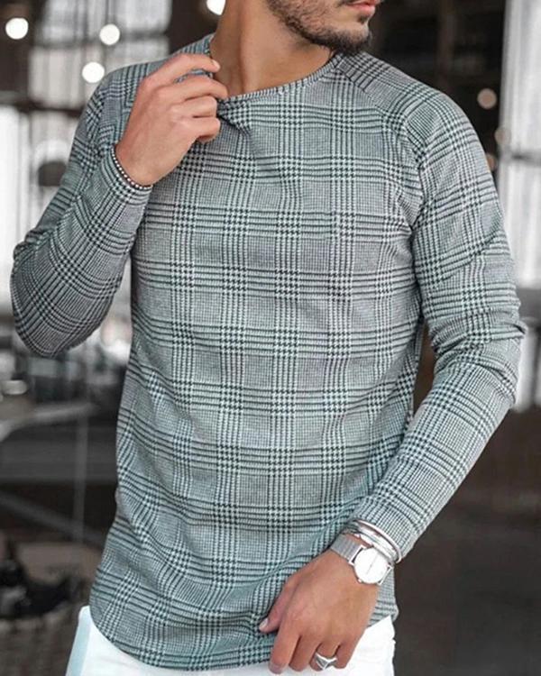 Cotton-Blend Crew Neck Striped Shirts & Tops