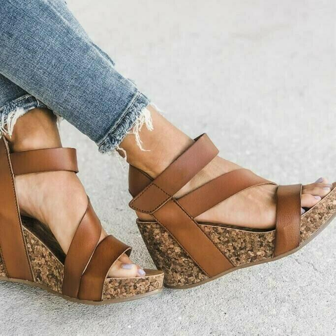 Summer Casual Open-toed Wedge Sandals