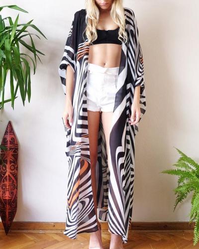 Long Kaftan Bikini Cover Up