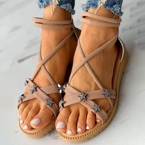 Women's Bohemian Star Flat Sandals