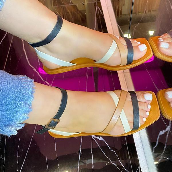Daily Comfortable Multi-Strap Flat Sandals