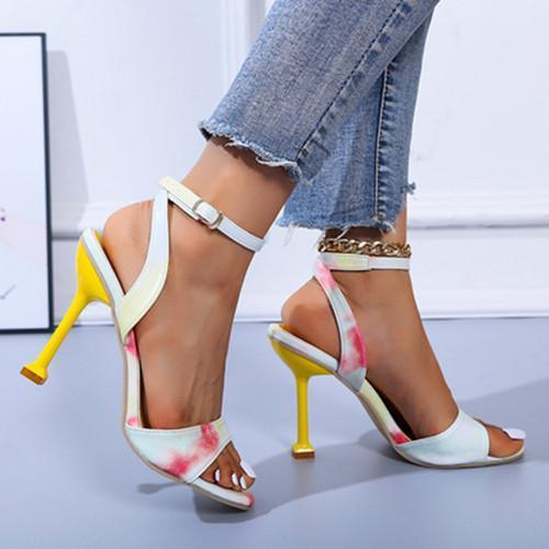 Open Toe Chunky Sandals