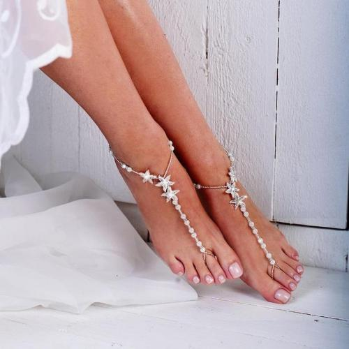 Starfish Beaded Barefoot Sandals Anklet Beach Wedding Starfish Barefoot Sandal