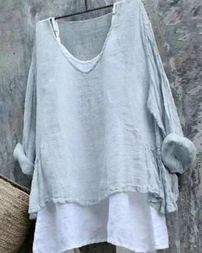 Ladies Loose Linen T-shirt