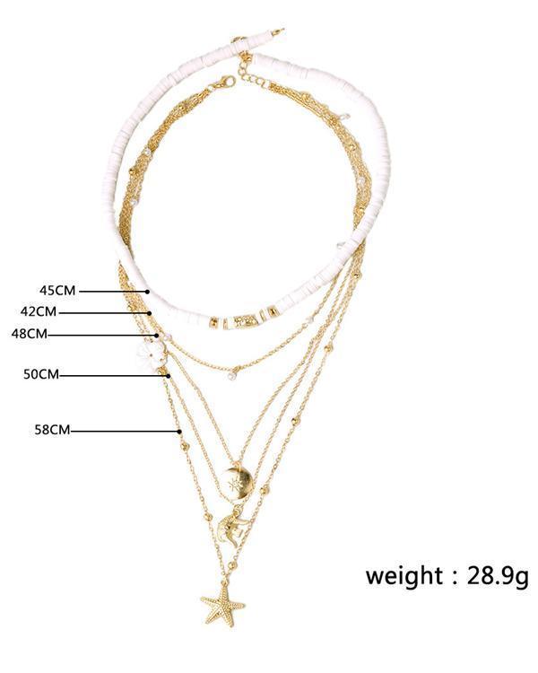 Star Flower Layer Necklace