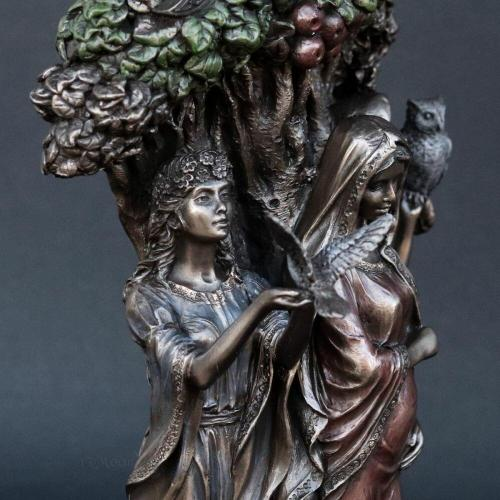 Celtic Triple Goddess Bronze Statue