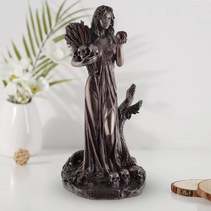 Persephone Statue Figurine.The Maiden Statue Figurine.Goddess of the underworld