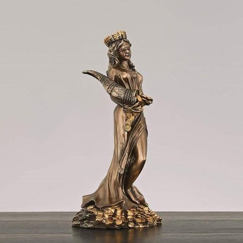 Ornaments Goddess Luck Statue Fate Fortune Figurine