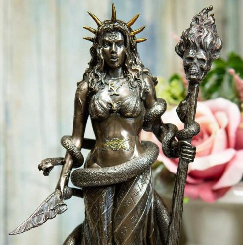 Greek Goddess Sorceress Witchcraft Hecate Figurine Hekate Necromancy Deity Magic Powerful Witch