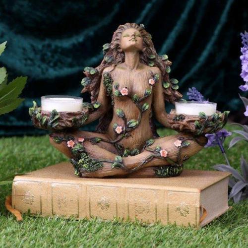 Balance of Nature Female Tree Spirit Tealight Candle Holder