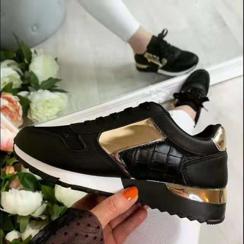 Women All Season Lace Up Comfy Sole Sneakers