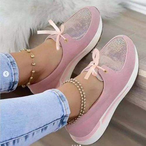 Women's Casual Lace-up Bow Flat Shoes