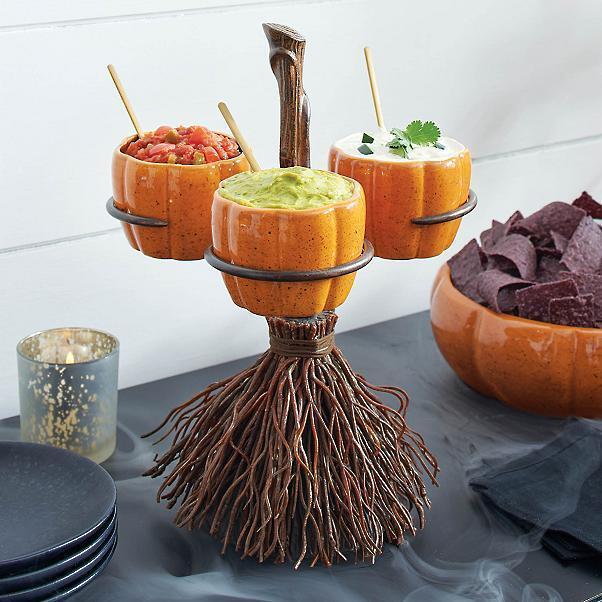 Halloween Pumpkin Snack Bowl Stand