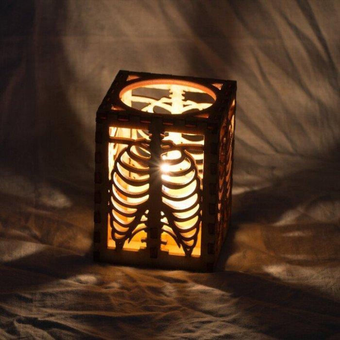 🎃 Halloween Skull Rib Shadow Lamp 💀