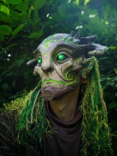 Green Man Forest Spirit Mask Costume Accessories Masks