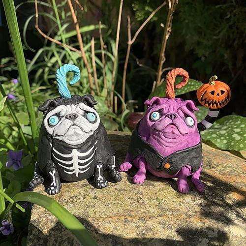 Demon Pug Garden Home Decor Christmas & Halloween Gift