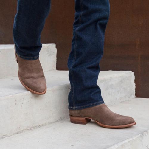 Men's New Low-heeled Simple Suede Men's Low Boots